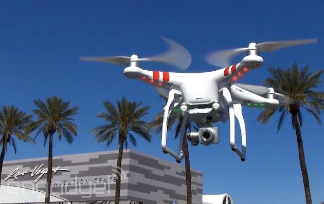 Flying high above Vegas with the DJI Phantom 2 Vision+ drone