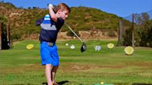 7-year-old golfer with one arm has one of the strongest drives on the planet