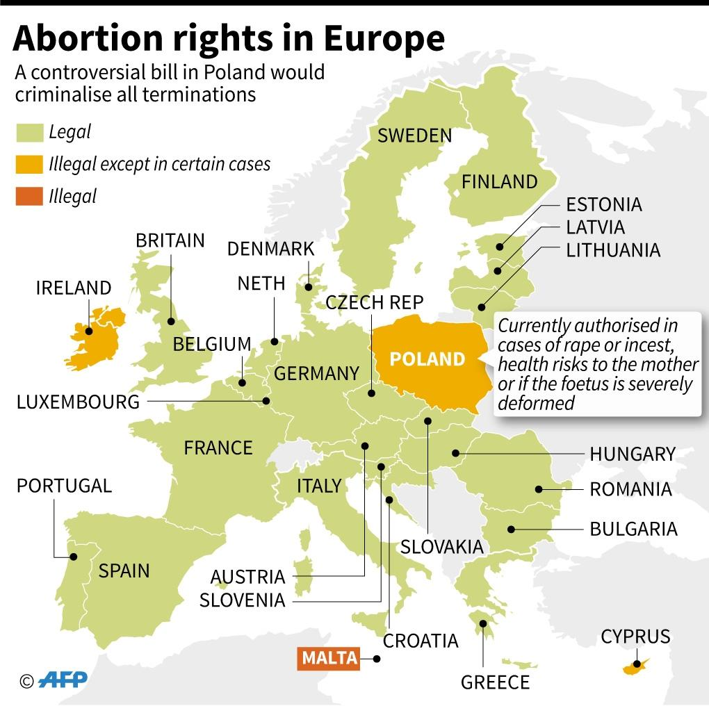 Abortion in Europe (AFP Photo/)