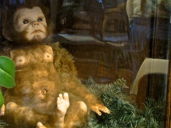 An artist's rendition of what a baby Bigfoot might look like. This is one of about 10,000 items on display at the International Cryptozoology Museum.