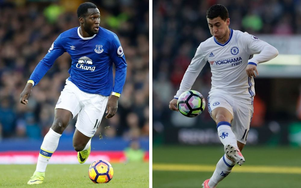 Lukaku vs Hazard at Goodison Park. But could they be team-mates next year? - PA, AP