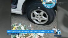 Man arrested after using Band-Aids and gauze to repair flat tires