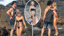 Chris Hemsworth and Elsa Pataky's cheeky PDA