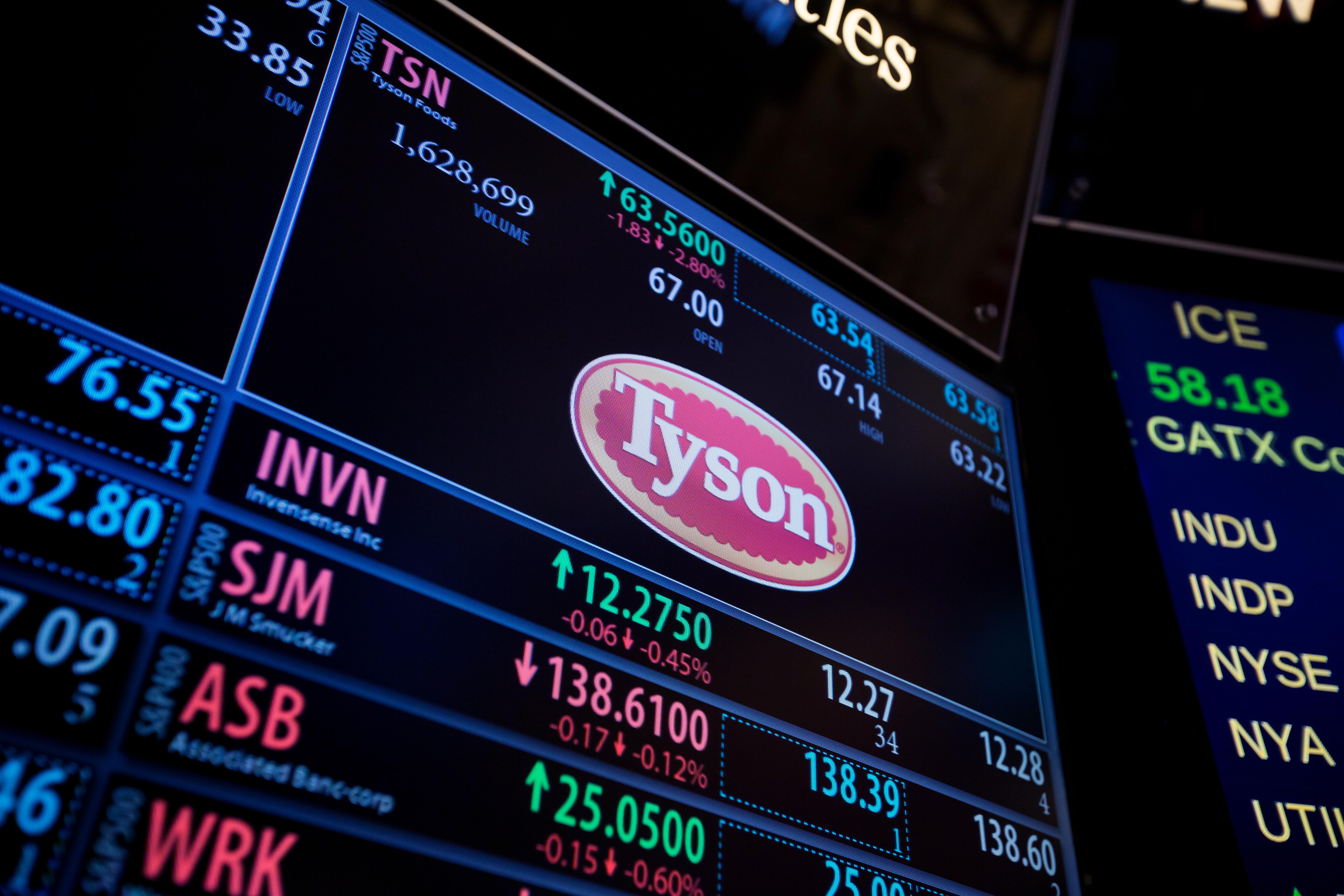 Earnings Tyson Food Stock Jumps After Beating Wall Streets Lowered