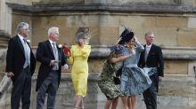 El viento complica a los invitados de la boda de Eugenia de York