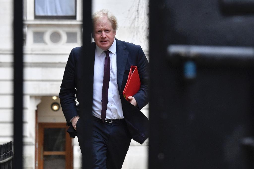 Johnson called the expulsions a 'turning point' in the West's attitude to Russia (AFP Photo/Ben STANSALL)