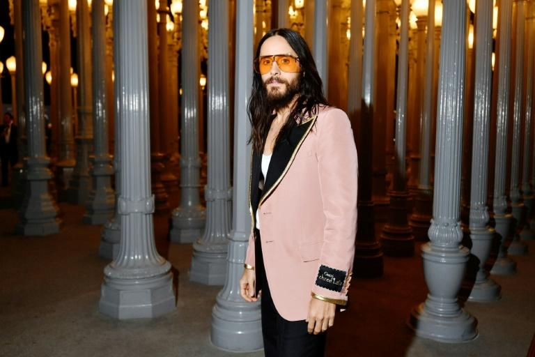 Jared Leto, pictured at the 2019 LACMA Art + Film Gala in Los Angeles, described De Havilland as a 'legend' (AFP Photo/Emma McIntyre)