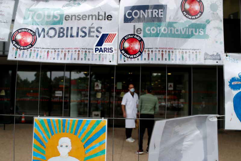 FILE PHOTO: Robert Ballanger hospital faces Covid-19 in Seine-Saint-Denis, one of France's poorest districts on the northern edge of Paris