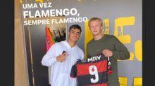 Haaland posta hino do Flamengo e agradece Reinier por camisa do clube