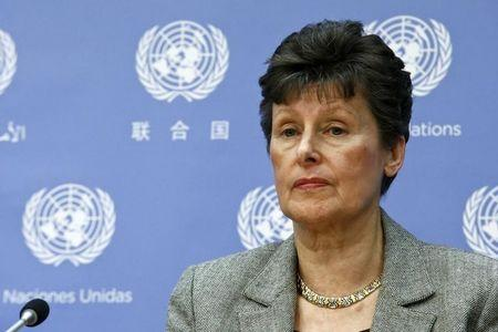 Kane, U.N high representative for disarmament affairs, attends a news conference in New York