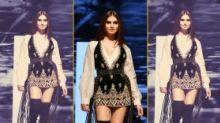 Pics: Tara Sutaria Channels 70s Glamour at Lakme Fashion Week