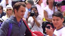 Federer fan and selfie-seeker gets past security at French Open