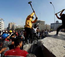 Protesters retake part of bridge in central Baghdad