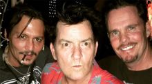 Johnny Depp, Charlie Sheen and Kevin Dillon Have 'Platoon' Reunion 30 Years Later: Pic!