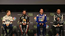 Brief NASCAR championship press conference offers a bit of tension and little else