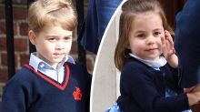 George and Charlotte are too cute on royal baby visit