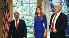 Primeira-dama Melania Trump vira estátua de cera em NY