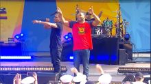Nelly rocks out Central Park with his hit 'Hot in Herre'