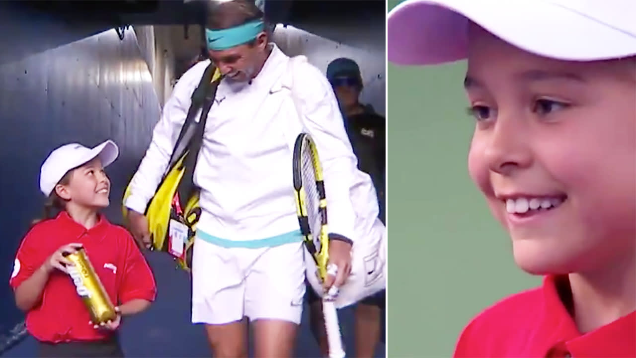 Rogers Cup Rafael Nadal Shares Adorable Moment With Young Ball Girl