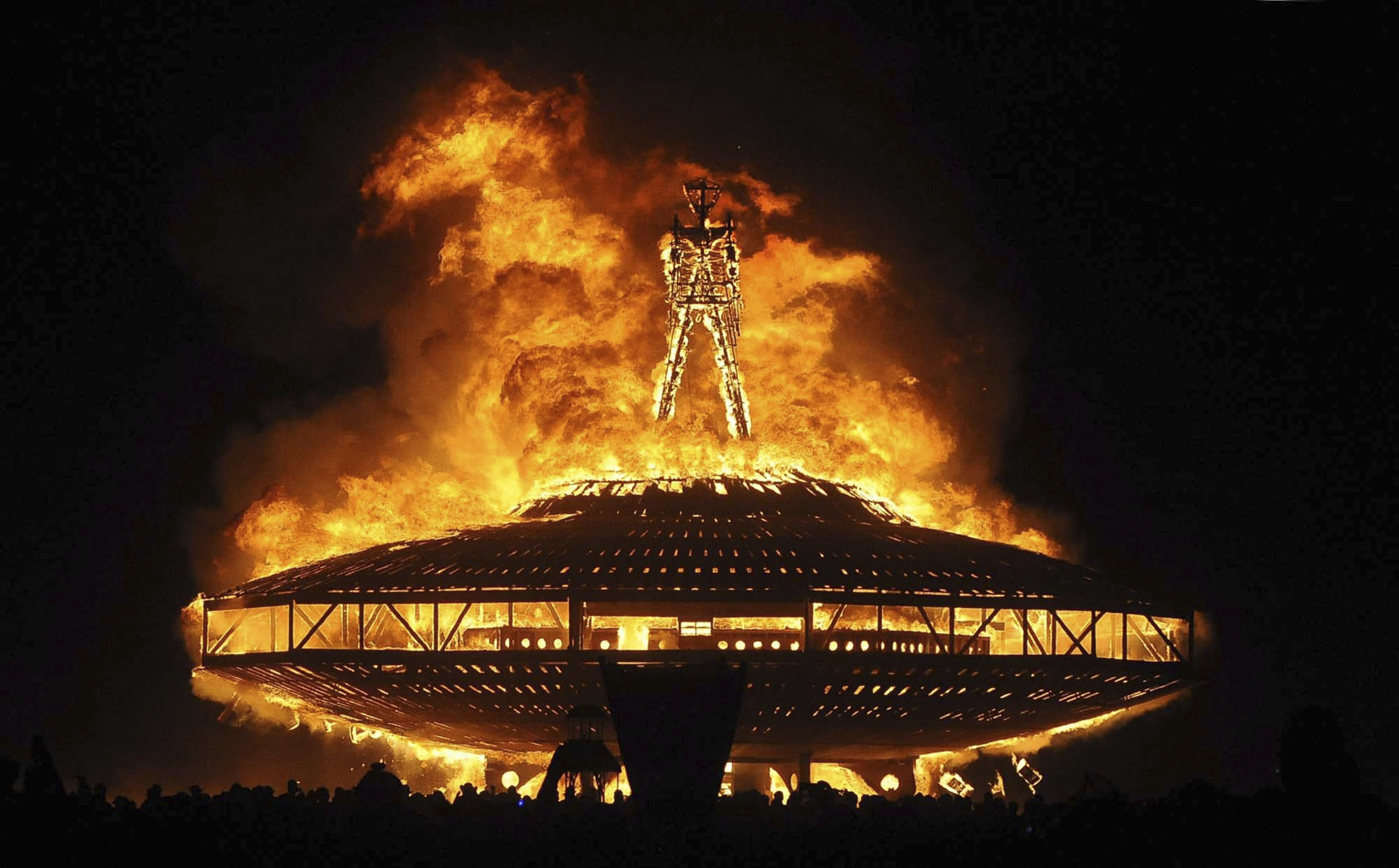 A Man Has Died After Rushing Into a Fire at Burning Man Festival