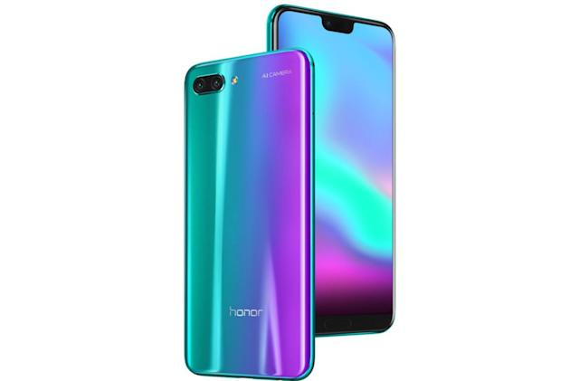 The Honor 10 is as funky-looking as the Huawei P20, only cheaper