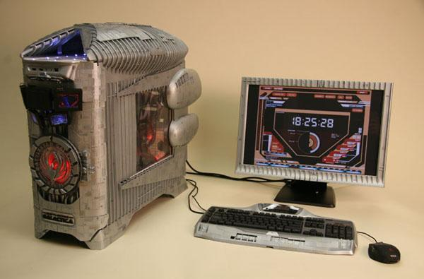 Battlestar Galactica case mod adds a touch of class and excitement to your work day