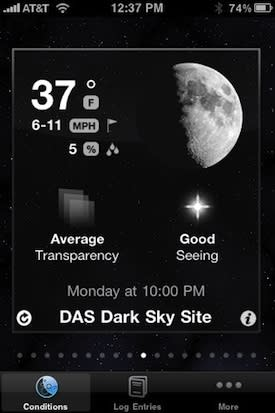 Amateur astronomers: Log your sessions with Observation 1.1 for iPhone
