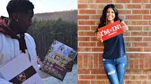 Teens are posing with their college acceptance letters in inspiring photo shoots