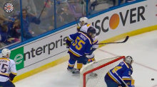 Predators' Vernon Fiddler tossed after kneeing Colton Parayko (Video)