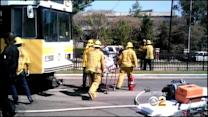 21 Hurt, 1 Critically, After Expo Line Train Crashes Into Car