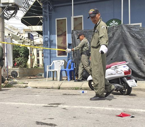 Police Look for Suspects After Bombs Hit Thailand Tourist Sites