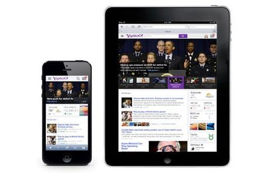 Yahoo reveals new homepage look with social streams, optimizations for smartphones and tablets