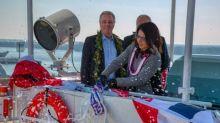 Matson Christens Second Aloha Class Vessel 'Kaimana Hila' At Philly Shipyard