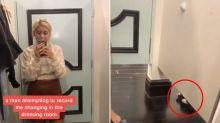 Woman spots creepy detail in change room