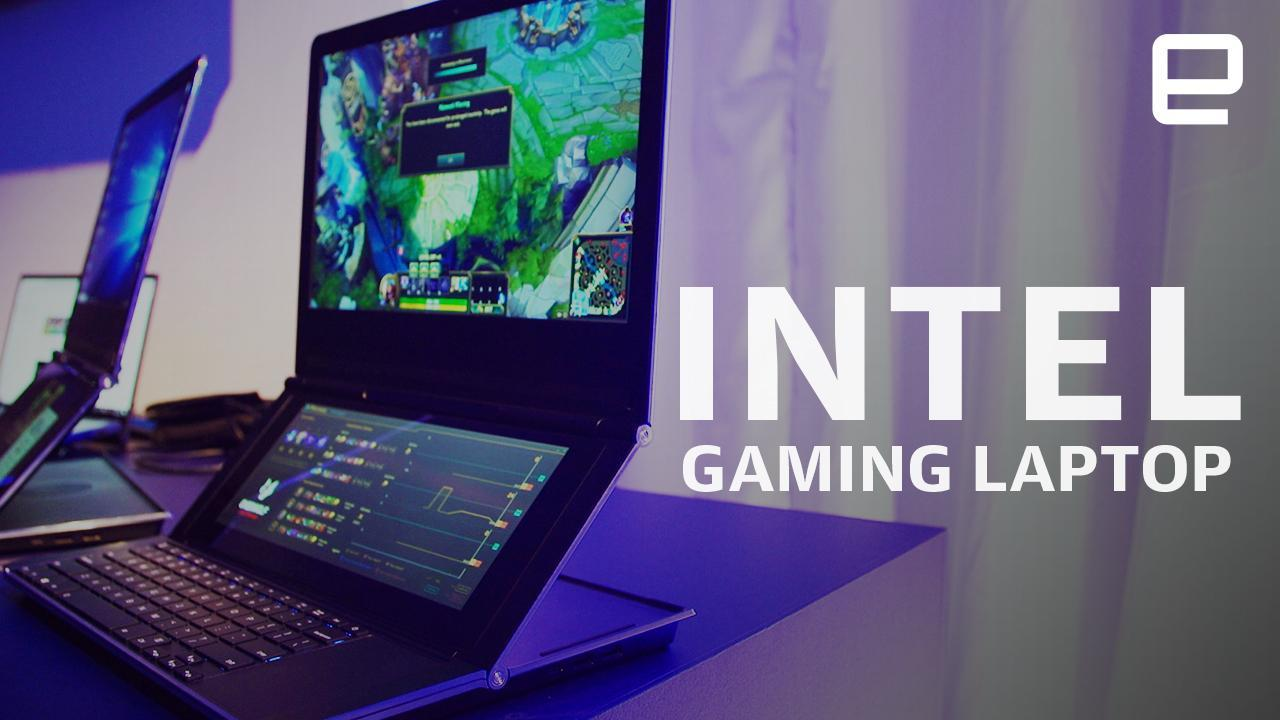 Intel S Gaming Laptop Prototype Is A Dual Screen Pc With A Point Engadget