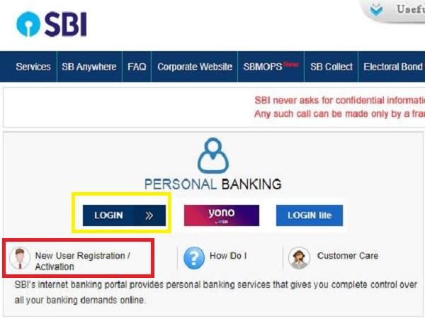 apply online sbi net banking