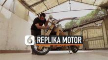 VIDEO: Keren, Replika Motor Harley Davidson Berbahan Dasar Kayu