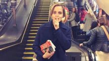 Emma Watson spotted dishing out free books on the Tube