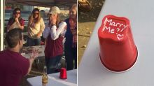 This Guy Proposed To His College Sweetheart During A Game Of Flip Cup