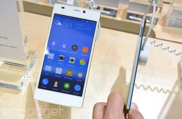 Hands-on with Gionee's super slim, octa-core Elife S5.5 smartphone (video)