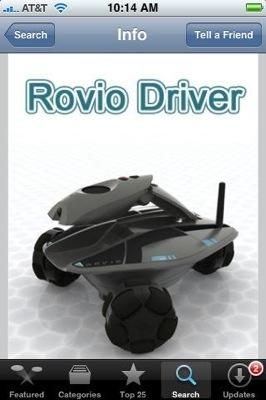 New app turns iPhone / iPod touch into Rovio controller
