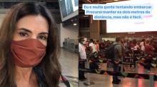 """Fatima Bernardes mostra perrengue para viajar no feriadão: """"Chuva não ajudou"""""""