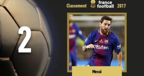 Foot - Ballon d'Or - Ballon d'Or 2017 : Lionel Messi (Barcelone) se classe 2e