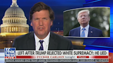 Tucker Carlson claims white supremacy 'not a real problem in America'