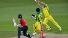 England's Adil Rashid applies brakes but Australia motor to victory in final T20