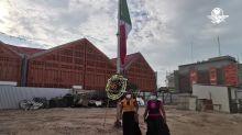 Con bandera a media asta, homenajean en Juchitán a víctimas del sismo de 2017