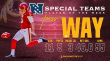 Tress Way named NFC Special Teams Player of the Week