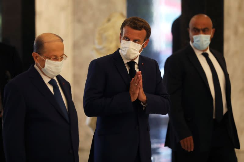 Macron visits Beirut after blast, meets political authorities