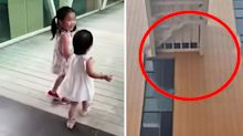 Horrifying moment toddler suddenly falls to her death from unfinished bridge