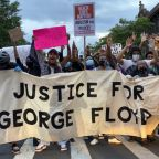 'We don't need any more politicians telling us to calm down': Brooklyn burns as protesters demand action over police killing of George Floyd